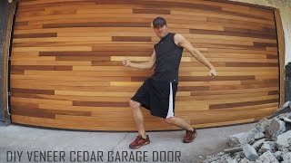 Cedar Tongue & Groove Veneer Garage Door_DIY Installation Time Lapse