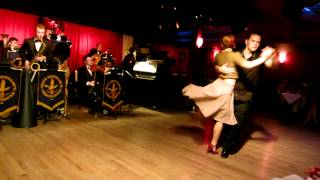 Mickey Fortanasce and Kelly Arsenault are dancing to Vince Giordano's Nighthawks' White Heat