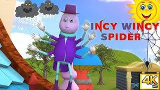 4K | 3D Incy Wincy Spider Nursery Rhymes | Popular Rhymes and Kids Songs from Peppy Tots Studio