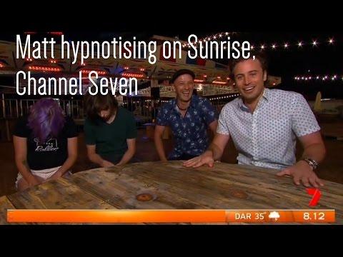 Matt Hale live hypnosis on Australia's Sunrise, Channel Seven