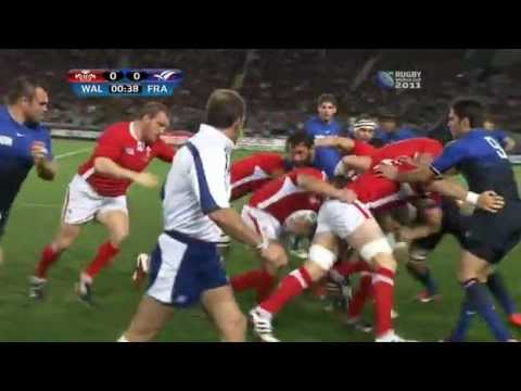 Rugby union, Semi-final France vs Wales at Auckland, New Zealand part 2.