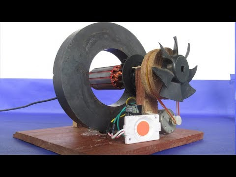 How to make Electric Motor Power DC Generator DIY With Magnet