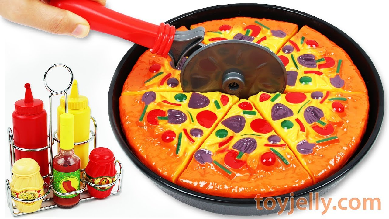 Learn Fruits Vegetables Play Doh Pizza Velcro Cutting Baby