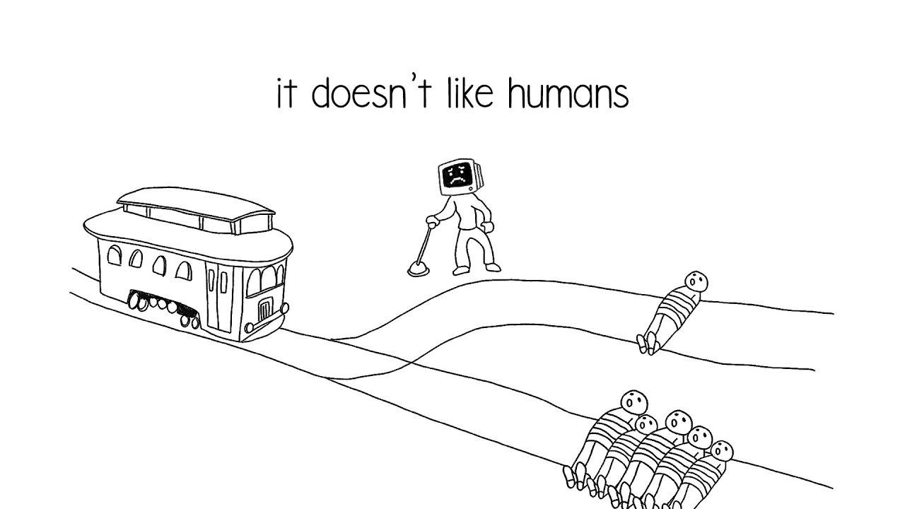 i taught an AI to solve the trolley problem