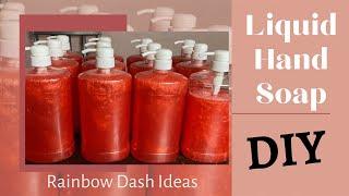 How to make LiɊuid Hand Soap l Hand Soap Making l DIY Hand Soap Making