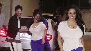 Shahid Kapoor MASTI With Kiara Advani @Kabir Singh Teaser Launch Party outside Ekta Kapoor's House