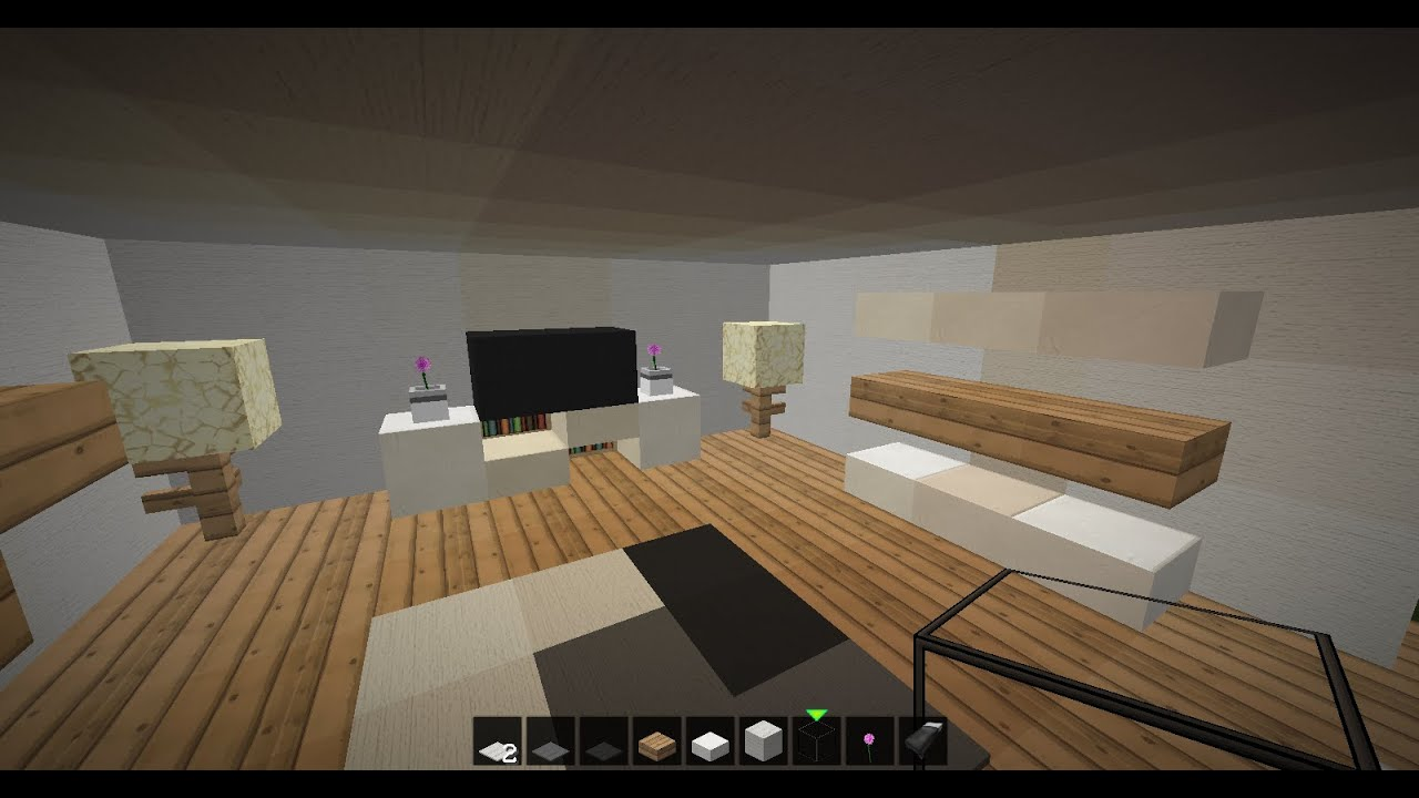 Tuto chambre moderne minecraft youtube for Chambre moderne