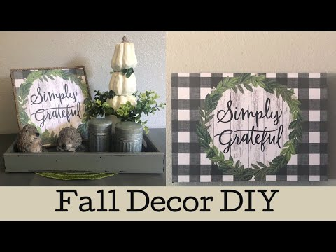 Fall Decor DIY | Fall DIY | Bonus Video