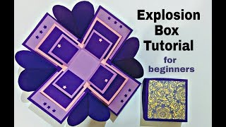 Explosion Box Tutorial for Beginners | DIY Explosion Box for Birthday / Anniversary