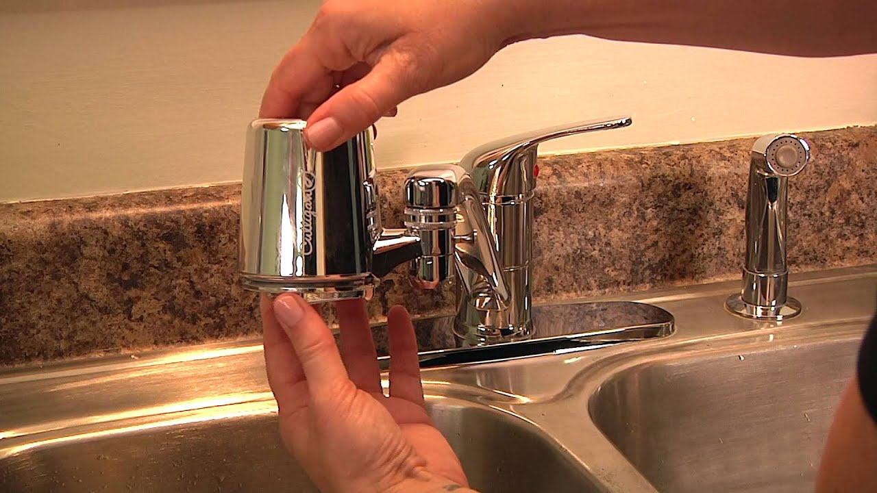 Culligan Faucet Mount Replacement Cartridge Installation Video - YouTube