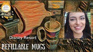 Disney resort refillable mugs at Disney World Pop Century