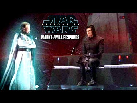 Star Wars! Mark Hamill Responds To Luke's Death, Episode 9 & More! Star Wars