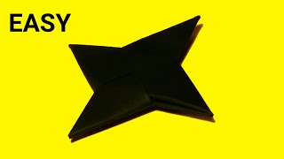 Origami EASY for Beginners - Kids - How to make a Paper NINJA STAR