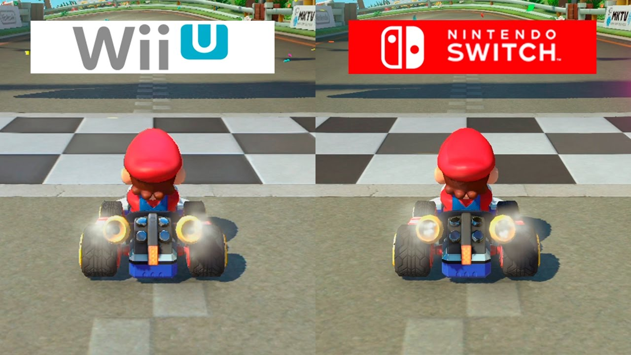 mario kart 8 switch vs wii u graphics comparison comparativa youtube. Black Bedroom Furniture Sets. Home Design Ideas