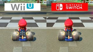 Mario Kart 8 Switch VS Wii U GRAPHICS COMPARISON Comparativa