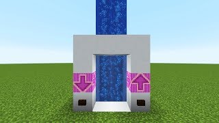 самый простой водный лифт в Майнкрафте