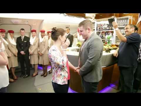 The Proposal | A380 Onboard Lounge | Emirates Airline