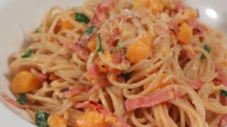 Ham & Butternut Squash Spaghetti Recipe - Easy Winter Pasta