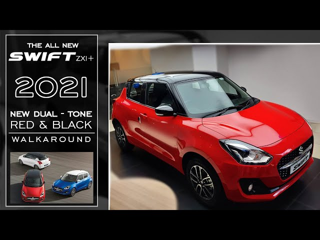 New Swift 2021 Facelift ZXI+ | Red & Black - Walkaround