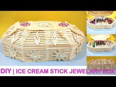 How to make beautiful Jewelry box || diy Crafts || ice cream stick craft