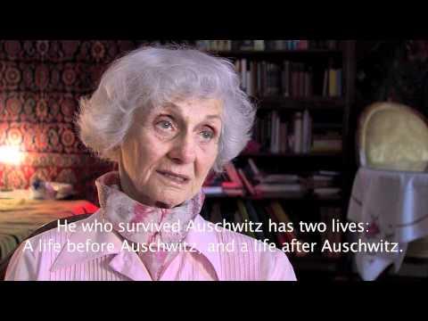 Eva Fahidi talks about the extermination of the Gypsy camp in Auschwitz. (Requiem for Auschwitz)