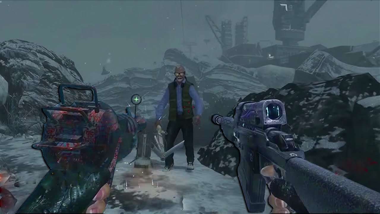 INSANE ZOMBIES GUN MOD  Call of the Dead Call of Duty Black Ops