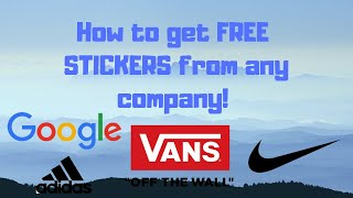 How to get free stickers supreme vans and zumies videos