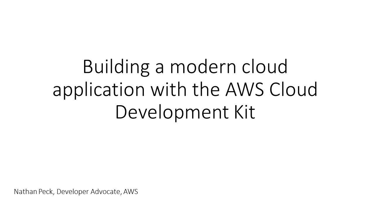 Develop a Web App Using Amazon ECS and AWS Cloud Development Kit (CDK) - AWS Online Tech Talks
