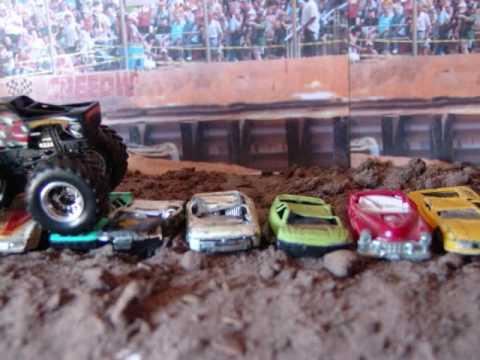 Stop Motion Film Hotwheels Monster Truck Crushing Cars Youtube