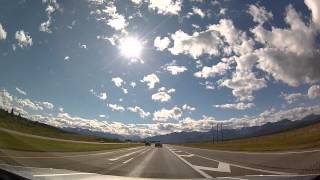 Drive Calgary to Banff (Alberta Canada) at 20x speed