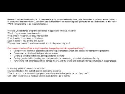 Research and its importance for US medical training YouTube