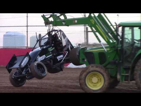 Trail-Way Speedway 358 Sprint Car Highlights 4-21-17