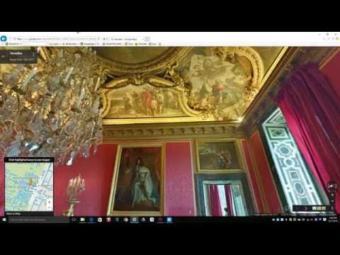 Video Dominion - Inside The Palace of Versailles in France Google Maps Exploration PT1