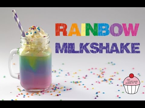 Rainbow Milkshake Recipe Unicorn Week My Cupcake