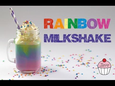 RAINBOW Milkshake Recipe | Unicorn Week @ My Cupcake Addiction