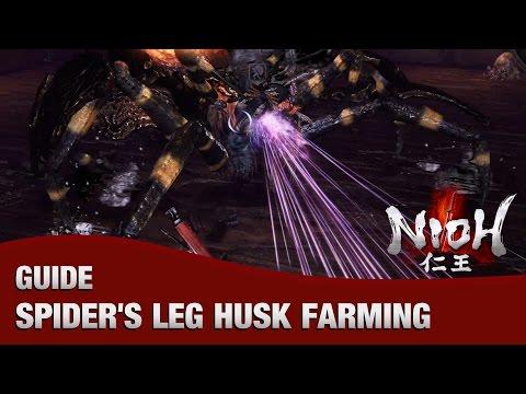 Nioh - Speed Farming Joro-Gumo for Spider's Leg Husk (Spider Nest Castle)