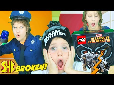 The Broken LEGO Creation! Black Panther LEGO Mystery Box Marvel Superheroes