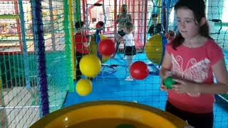 Kids Fun Playing with Color Plastic Balls