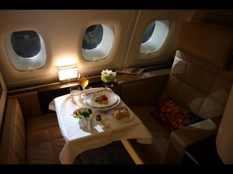 Etihad First Class (Apartments) - Abu Dhabi to London Heathrow (EY 19) - Airbus A380-800