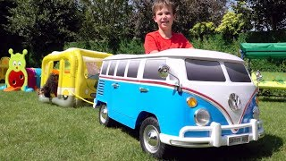 Wheels on the bus song | Max pretend play to ride on bus with toys