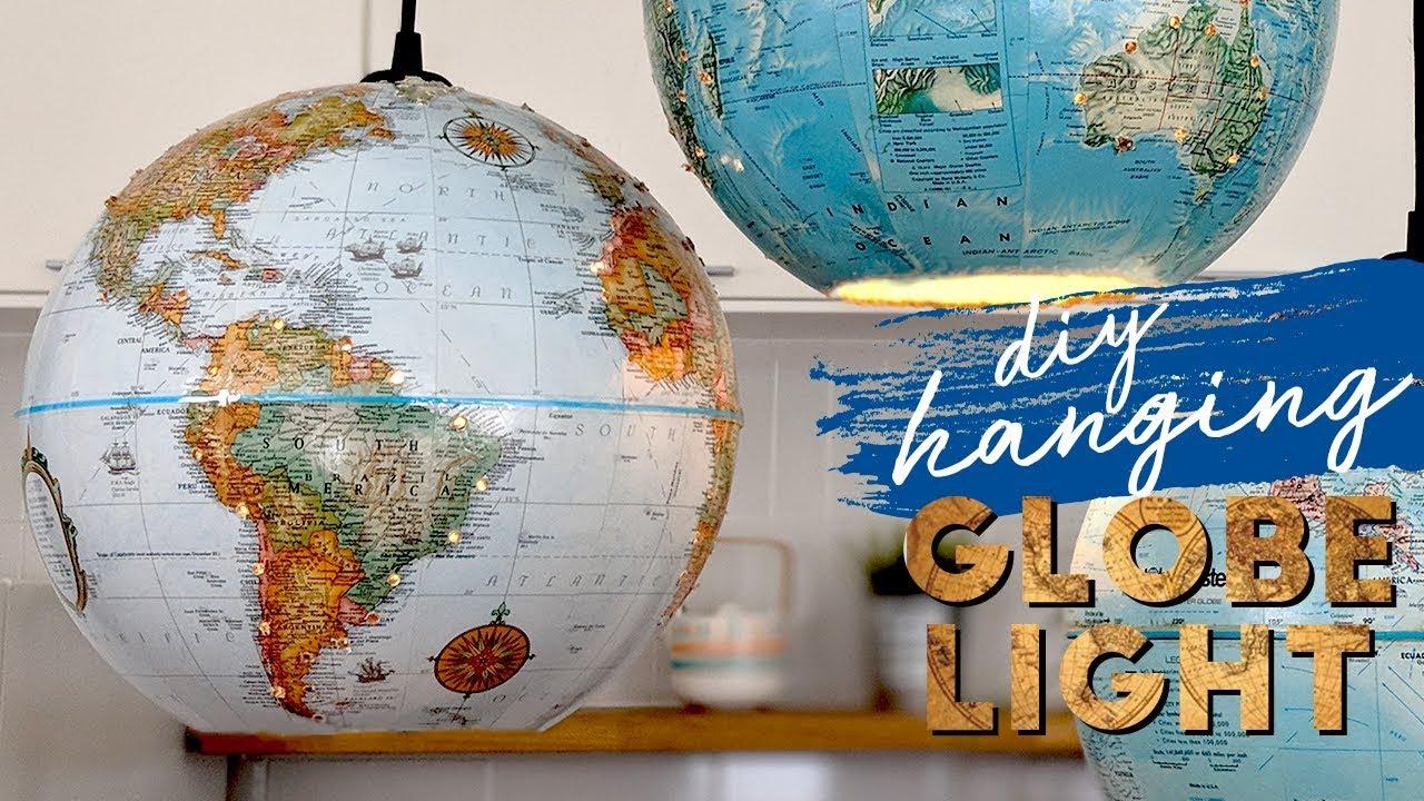How To Make A Globe Pendant Lamp Diy Globe Pendant Light