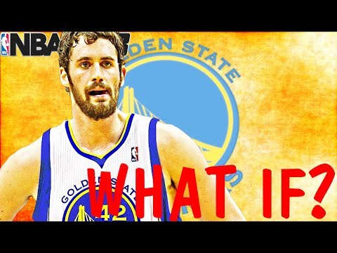"""""""WHAT IF"""" THE WARRIORS TRADED KLAY THOMPSON FOR KEVIN LOVE? NBA 2K18"""