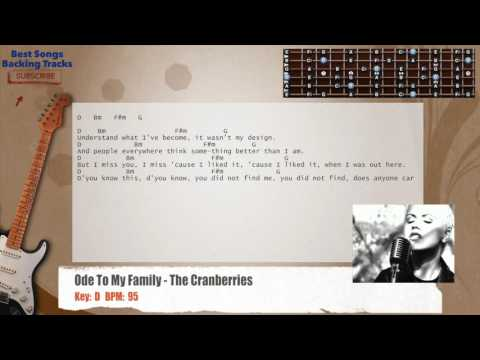 Ode To My Family - The Cranberries Guitar Backing Track with chords and lyrics