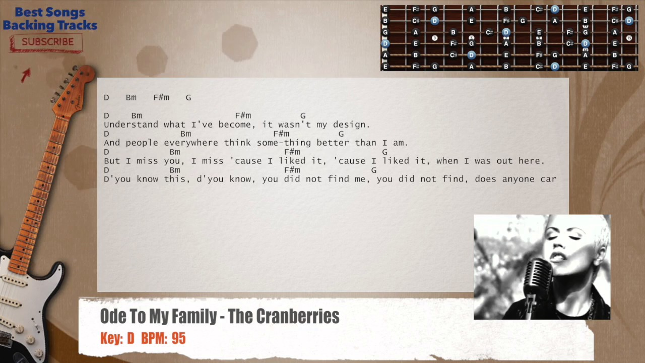 Ode To My Family - The Cranberries Guitar Backing Track with ...