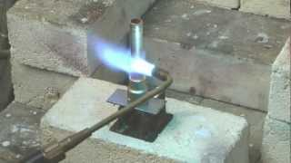 brazing a copper tube to a brass fitting using a silver flo 55 flux coated rod