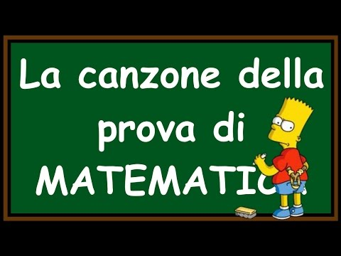 Orazio - La canzone della PROVA DI MATEMATICA!