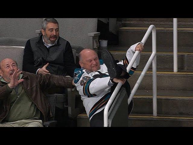 Rowdy Sharks fan goes wild in the stands