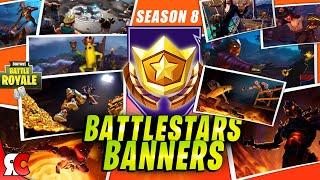 Fortnite SEASON 8   All 10 Secret Battlestars / Banners (Loading Screens + Secret Locations)