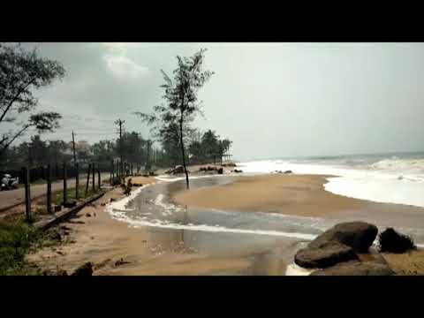 Titli Cyclone |  rough Arabian Sea conditions | ತಿತ್ಲಿ ಚಂಡ ಮ