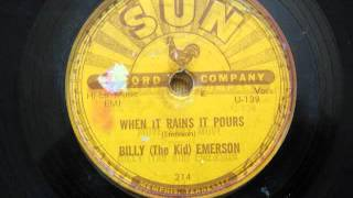 Billy Emerson - When It Rain It Pours / Move Baby Move